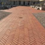 Pavimentazione mattoni estrusi in cotto cimitero Isola Rizza