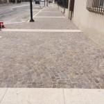 S. Pietro di Legnago - riqualificazione centro con pavimentazione in porfido trentino e pietra bianca Verona